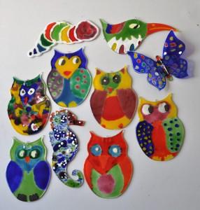 Uniek kinderfeestje, Glasatelier Vetro Colorato, werkstukken, geert hochstenbach, neerbeek, limburg, glasbewerken, workshop