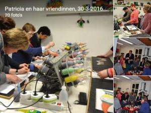 foto's workshop patricia, verven met koud vloeibaar glas, neerbeek, glasatelier Vetro Colorato, Limburg, Neerbeek