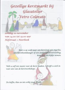 20 november kerstmarkt-2016, glasatelier vetro colorato, neerbeek, workshops, beek, glas bewerken