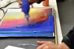 Glaspoeder nat opbrengen, verven met koud vloeibaar glas, Glasatelier Vetro Colorato.jpg