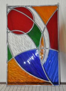 workshop glas bewerken gevorderdencursus, Glasatelier Vetro Colorato, neerbeek, limburg, eindwerkstuk, leven