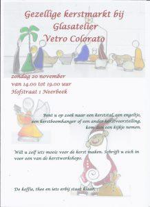 20 november kerstmarkt-2016, glasatelier vetro colorato, neerbeek, workshops, beek, glas bewerken