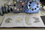 Werkstukken klaar voor in de oven, Uniek kinderfeestje, Glasatelier Vetro Colorato.jpg