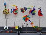 gekke vogels, verven met koud vloeibaar glas en glasfusing, Glasatelier Vetro Colorato.jpg
