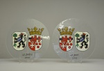 stadswapens Beek en Gundelfingen an der Donau, verven met koud vloeibaar glas, Glasatelier Vetro Colorato.jpg