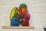 Kerstgroepje, verven met koud vloeibaar glas, Glasatelier Vetro Colorato.jpg